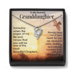 To My Granddaughter Necklace Gift Box