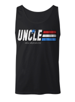 Uncle A Real American Hero Happy Father's Day Stickers Shirts Hoodies Cups Mugs Totes Handbags
