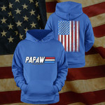 Papaw A Real American Hero Happy Father's Day Stickers Shirts Hoodies Cups Mugs Totes Handbags
