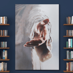 Jesus God Reaching Hand Father's Day Gifts Canvases Posters Pictures Puzzles Quilts Blankets Shower Curtains Christ Christian