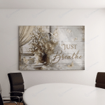 Just Breath Hippie Canvases Pictures Puzzles Posters Quilts Blankets Door Mats