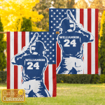Personalized American Baseball Sports (Flags, Canvases, Posters, Puzzles, Quilts, Blankets) For Sons, Daughters, Grandsons, Granddaughters