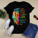 I Am Who I Meant To Be This Is Me Lion Rainbow Pride (Vinyl Stickers, Shirts, Hoodies, Cups, Mugs, Totes, Handbags)