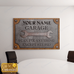 Garage I Can Fix Anything For Dad - Father - Grandpa (Canvases, Pictures, Puzzles, Posters, Quilts, Blankets, Flags, Bath Mats)