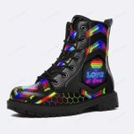 Love Is Love Rainbow Pride (Leather Shoes - Leather Boots)