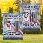 20th Anniversary We Will Never Forget (Firefighters - Canvases, Posters, Pictures, Puzzles, Quilts, Blankets, Shower Curtains, Flags, Bath Mats, Led Lamp, Stickers)
