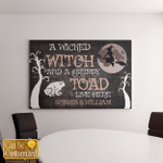 Wicked Witch And Grumpy Toad (Canvases, Pictures, Puzzles, Posters, Quilts, Blankets, Husband, Wife, Couples Gifts)