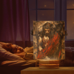Jesus Painting (Canvases, Posters, Pictures, Puzzles, Quilts, Blankets, Shower Curtains, Led Lamp, Stickers)