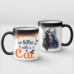 Halloween Is Better With Cat (Vinyl Stickers, Shirts, Hoodies, Cups, Mugs, Totes, Handbags)