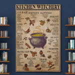 Kitchen Witchery Wtch Halloween (Canvases, Posters, Pictures, Puzzles, Quilts, Blankets, Shower Curtains, Led Lamp, Stickers)