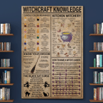 Witchcraft Knowledge Wtch Halloween (Canvases, Posters, Pictures, Puzzles, Quilts, Blankets, Shower Curtains, Led Lamp, Stickers)