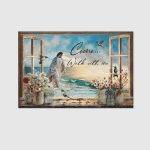 Jesus Humming Bird Window (Christs - Christians, Canvases, Pictures, Puzzles, Posters, Quilts, Blankets, Flags, Bath Mats, Led Lamp, Stickers)