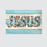 Jesus - Seashell (Christs - Christians, Canvases, Pictures, Puzzles, Posters, Quilts, Blankets, Bath Mats, Stickers)