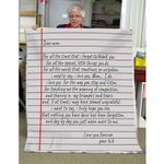 A Letter To Mom Blanket  Gifts For Mothers