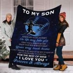 A Letter To Son Baseball Player Blanket