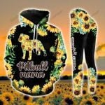Pitbull Mama Sunflower  Gift 3D Hoodie & Legging Set