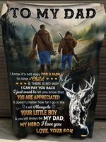 Gifts For Dad From Son  To My Dad Deer Hunting Blanket
