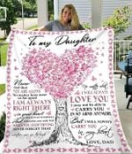 Birthday Gifts To My Daughter From Dad Never Feel That You Are Alone Heart Tree Blanket