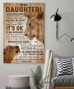 Gifts For Daughter From Dad To My Daughter It's Ok To Be Different Just Believe In Yourself Lion Canvas