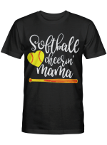 Softball Cheerin Mama Tshirt