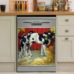 Cows And Cat Decor Kitchen Dishwasher Cover