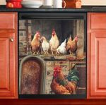 Chicken Rooster Decor Kitchen Dishwasher Cover INC01