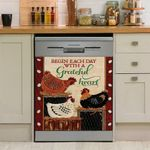 Begin Each Day With A Grateful Heart Chicken Decor Kitchen Dishwasher Cover