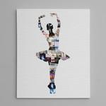 Dance Ballerina Photo Collage Canvas Print
