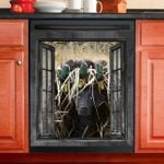 Duck Hunting Dog Window View Decor Kitchen Dishwasher Cover