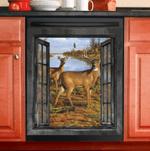 Deer Hunting Lake Window View Decor Kitchen Dishwasher Cover