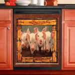Pigs Cute Decor Kitchen Dishwasher Cover