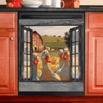 Duck Farm Window View Decor Kitchen Dishwasher Cover