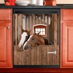 Love Horse Couple Decor Kitchen Dishwasher Cover
