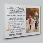 Walk With Me Mama Poem Custom  Gift Canvas Print