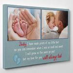 Gifts For Dad  Custom Photo Daddy I Have Made Prints Of My Little Feet Canvas Print For