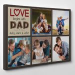 Gifts For Dad  Custom Photo Collage Love Begins With Dad Canvas Print