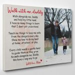 Personalized Gifts For Dad  Custom Photo Walk With Me Daddy Canvas Print