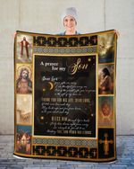 A Prayer For My Son Dear Lord Jesus Cross Christian Blanket
