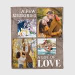 A Few Memories A Lot Of Love Custom Photo Family Blanket