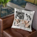 Happy 60th Wedding Anniversary Custom Photo Valentine's Day Gift Pillow