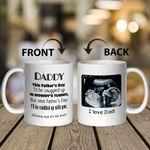 Gifts For Dad Happy First  Custom Sorogram Baby Photo I Love You Dad Mug