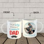 """Gifts For Dad  Custom Photo """"Awesome Dad"""" Ceramic Mug – Father's Day Gift"""