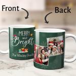Merry And Bright Custom Photo Family Mug