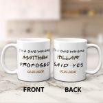 The One Where Proposed And Said Yes Couple Valentine's Day Gift Mug