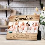 Grandma Is Part Parent Part Teacher Part Best Friend And Completely Loved Custom Photo Desktop Plaque