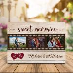 """""""Sweet Memories"""" Personalized Photo Valentine's Day Gift Plaque"""
