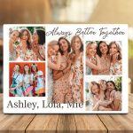 Always Better Together Photo Collage Desktop Plaque