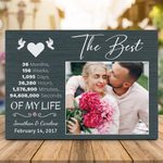 3 Year Anniversary The Best 3 Years Of My Life Valentine's Day Gift Photo Plaque