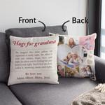Hugs For Grandma Custom Pillow