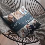 Let's Cuddle Custom Photo Valentine's Day Gift Pillow